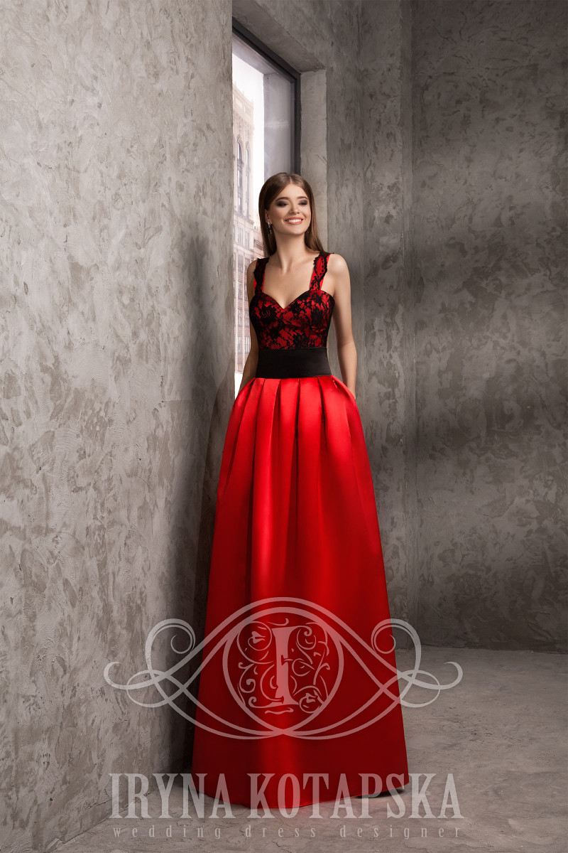 A mix of red and black formal dresses wholesale