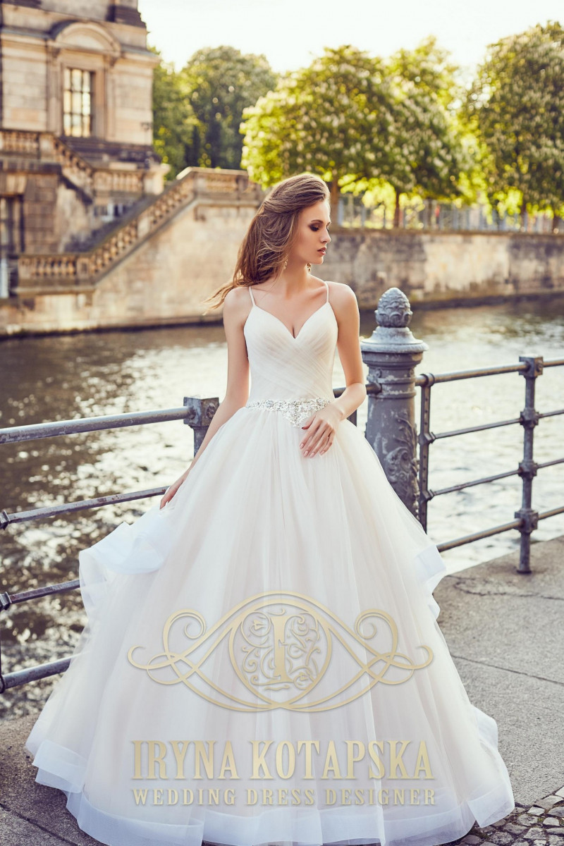 A delicate ballgown wedding dress