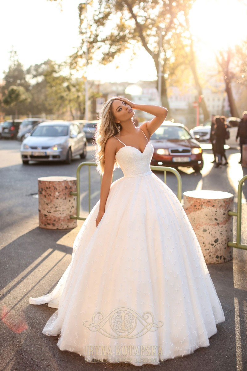 A charming ballgown wedding dress
